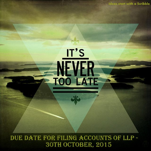 Due date for filing accounts of LLP